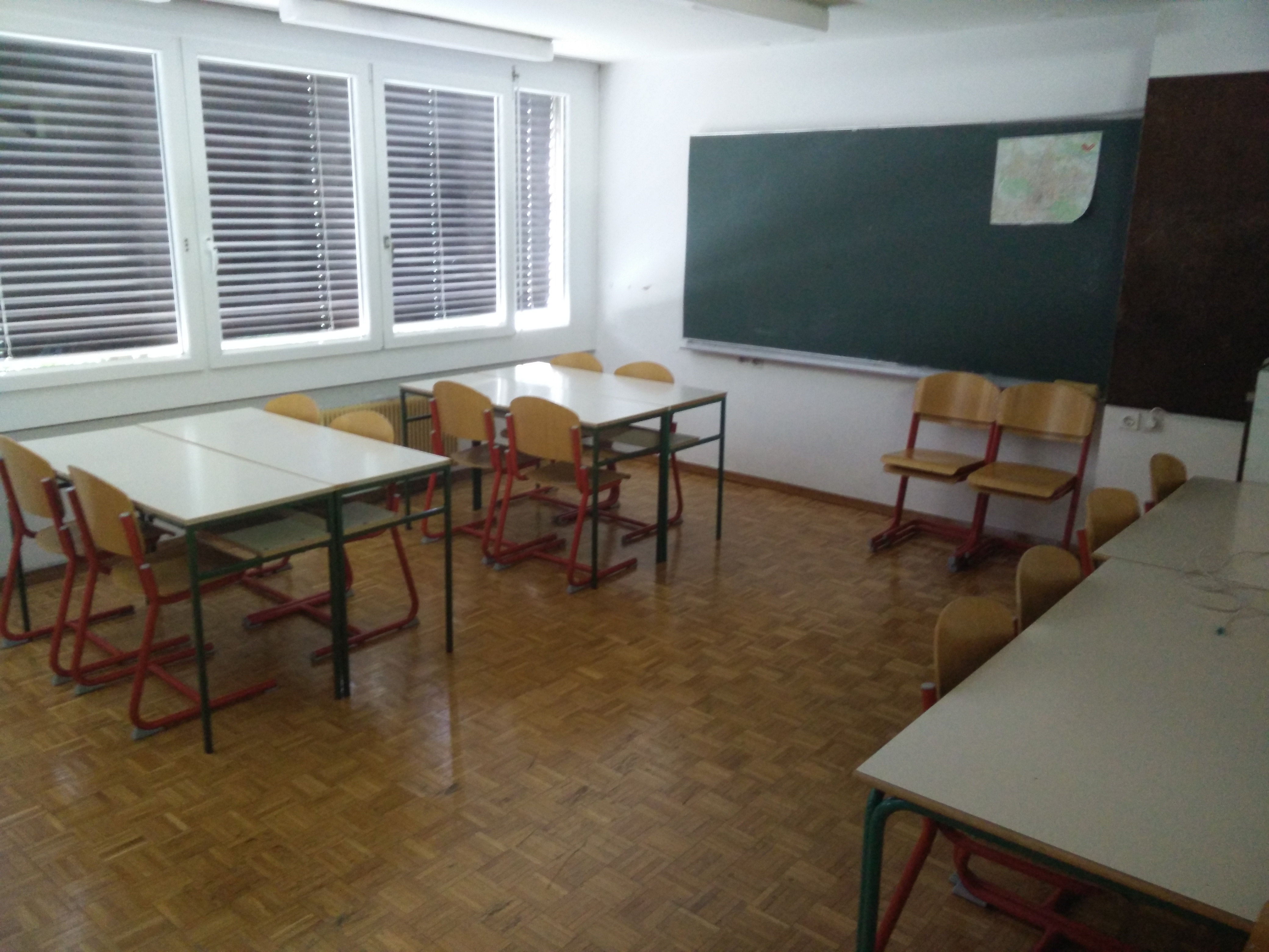Small classroom on every floor.